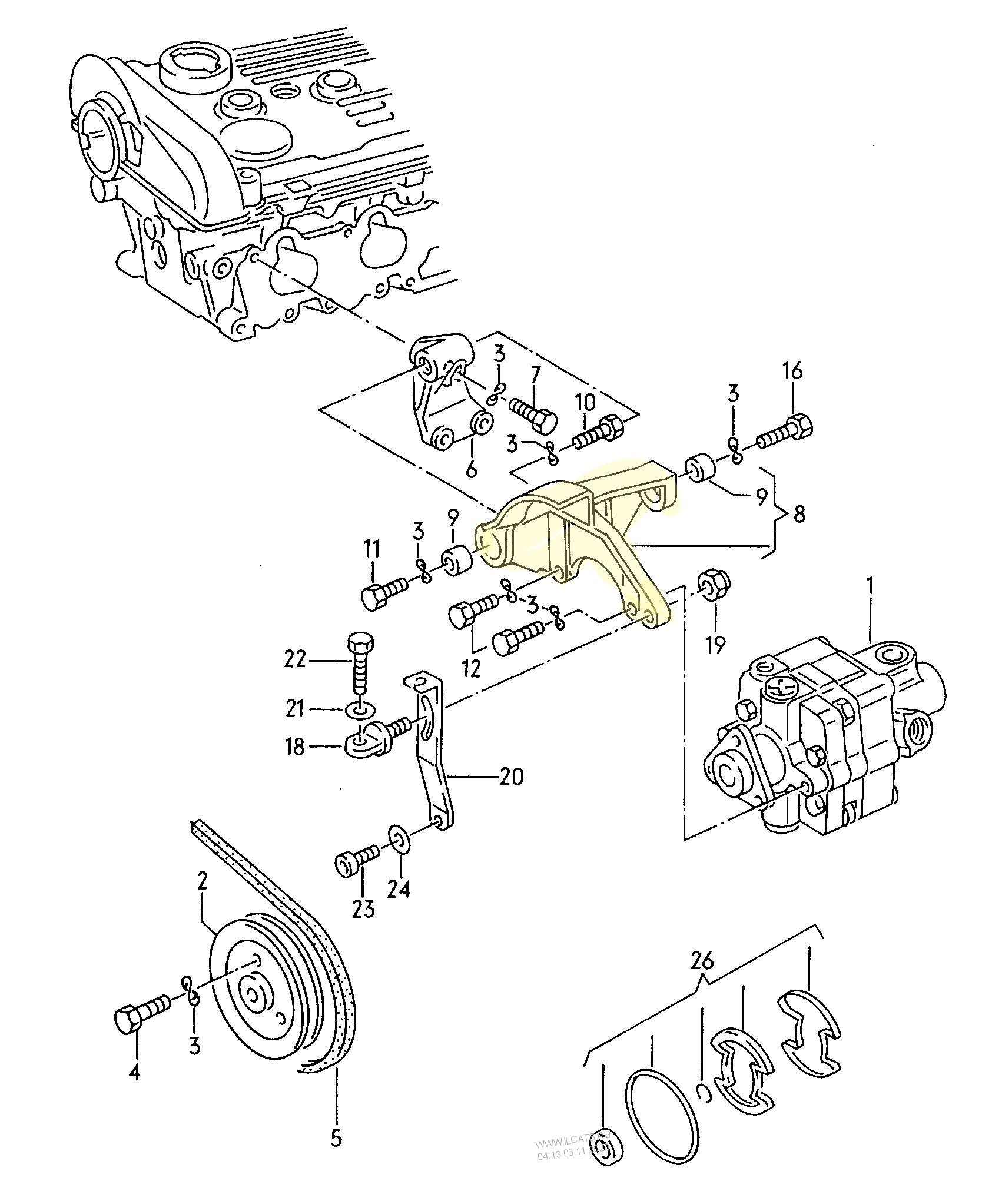 #8 power steering bracket.JPG